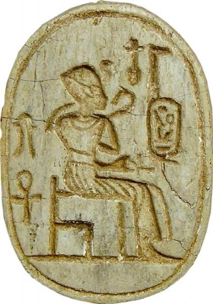 The symbol of ankh in aten script